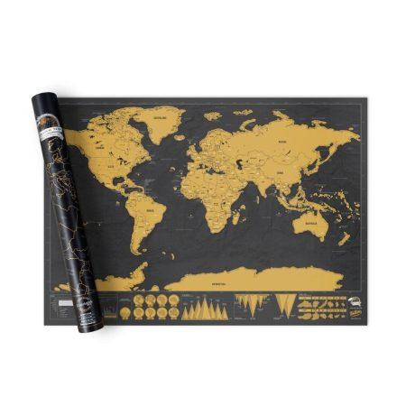 Škrabací  mapa světa, cestování holm0113