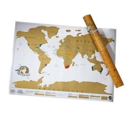 Škrabací  mapa světa, cestovní prémium holm0114