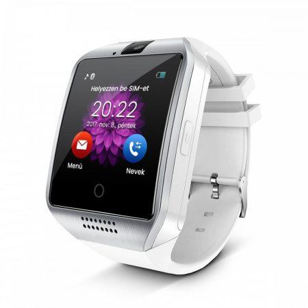 AlphaOne SmartWatch Q18 zakřivená obrazovka stříbrno-bílá barva Q18