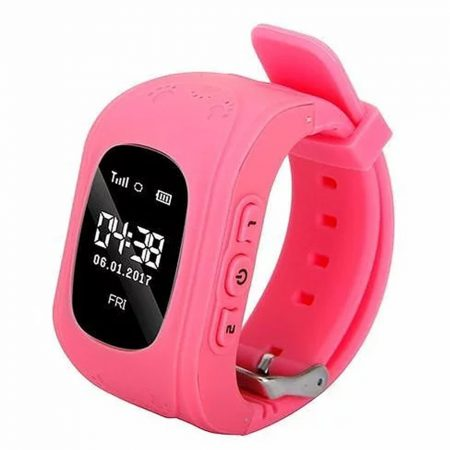 Bass q50 kid smart hodinky, růžové