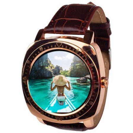 Chytré hodinky AlphaOne X3 zlaté hodinky