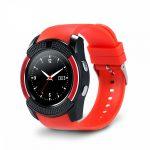 Bass V8 smart hodinky, červeně