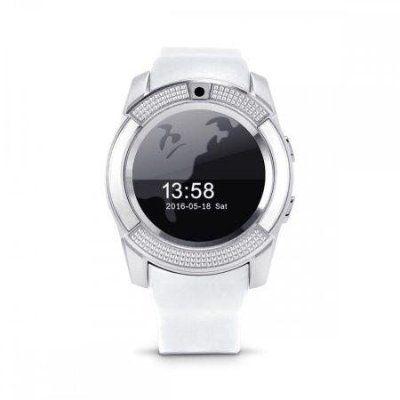 Bass V8 smart hodinky, bílé