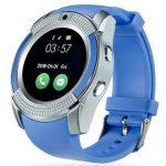 Bass V8 smart hodinky, modré