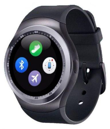 AlphaOne Y1 smart hodinky, stříbrně