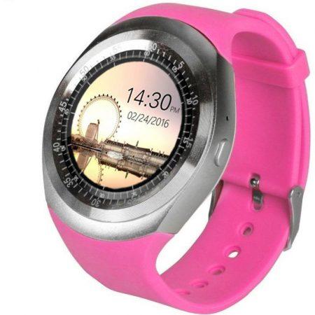 AlphaOne Y1 smart hodinky, růžové