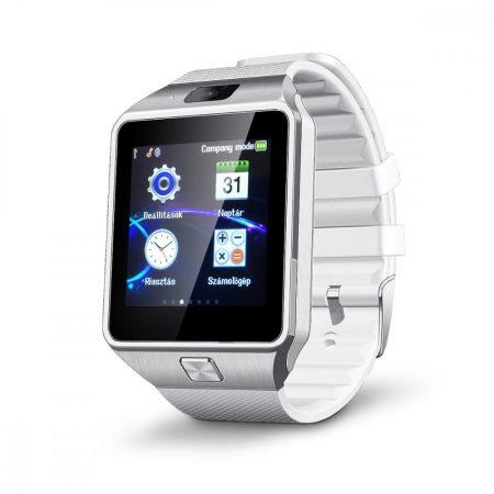 58/5000 AlphaOne M8 premium smart hodinky stříbrná - bílá barva