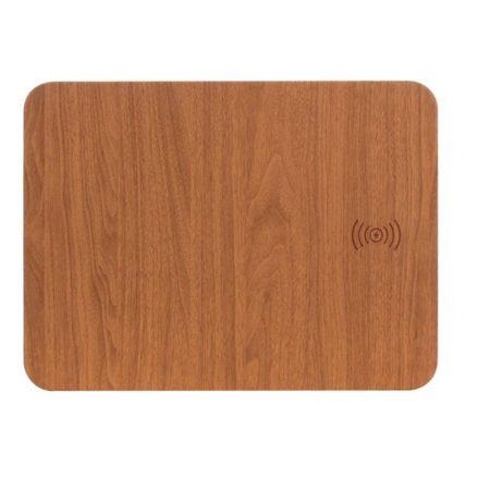 Dřevěná podložka pod myš Qi s bezdrátovým nabíjením