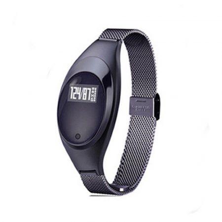 Christina Inteligentní hodinky, černé  *Opravdu ženské hodinky s tenkým kovovým páskem *
