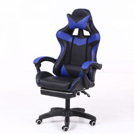 RACSING PRO X Herní židle opěrkou na nohy modro-černá barva