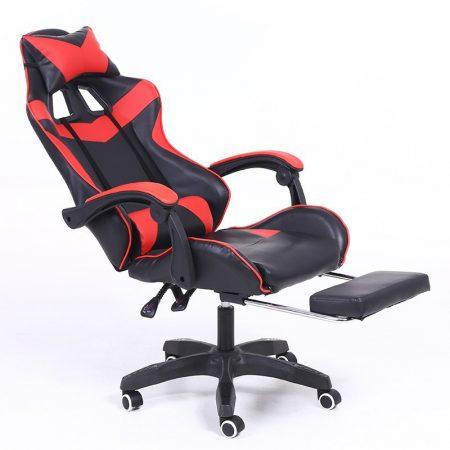 RACSING PRO X Herní židle opěrkou na nohy červeno-černá barva