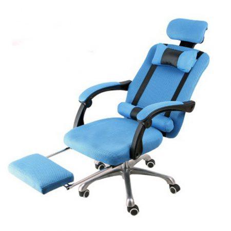 Prezidentská otočná židle modrá,   - Komfort a pohodlí, ergonomický design!