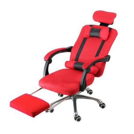 Prezidentská otočná židle s opěrkou pro nohy,Červená barva  - pohodlí a  ergonomický design!