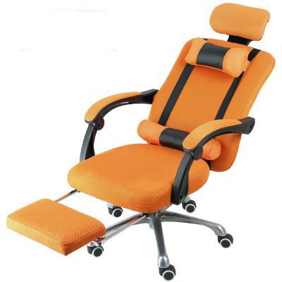 Prezidentská otočná židle s opěrkou pro nohy , oranžová barva - pohodlí a  ergonomický design!