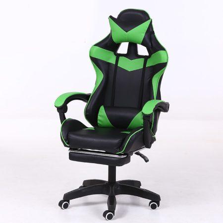 RACSING PRO X  Herní židle opěrkou na nohy  Zelená-černá barva