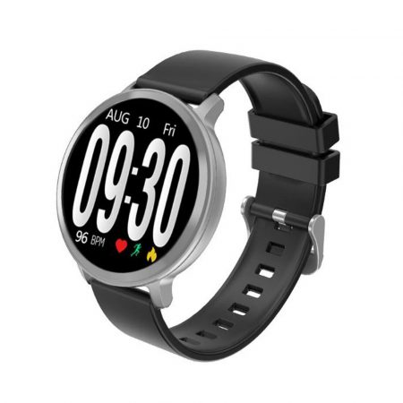 S8 Stříbrno černé inteligentní hodinky