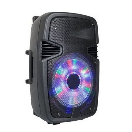 Přenosný bezdrátový reproduktor Bluetooth AlphaOne W6008 s vestavěnými LED světly - zdarma s mikrofonem + dálkovým ovládáním!