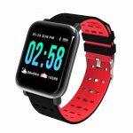 Mike Watch A6 Inteligentní hodinky Červené