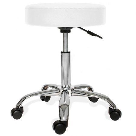 Otočná židle s nastavitelnou výškou, bílá