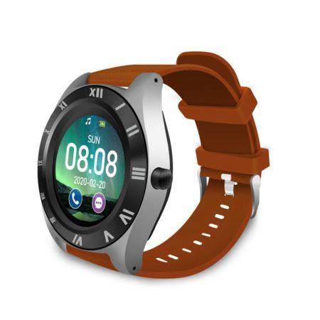 M11  chytré hodinky s hnědým páskem