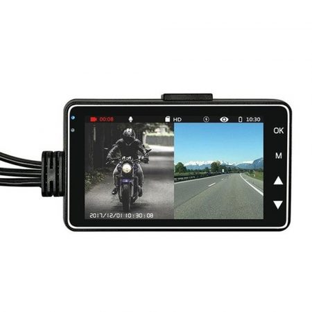 Palubní kamera s 2 kamerami pro motorky