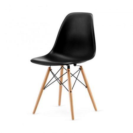 4 Designové moderní jídelní židle do vaší kuchyně nebo mohou být klenotem obývacího pokoje-černá