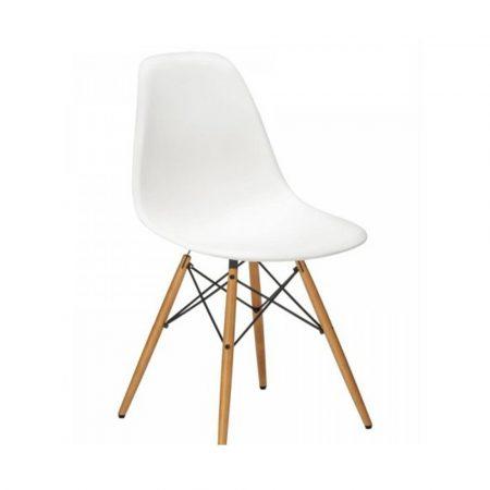 4 Designové moderní jídelní židle do vaší kuchyně nebo mohou být klenotem obývacího pokoje- bílá