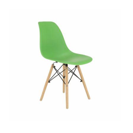 4 Designové moderní jídelní židle do vaší kuchyně nebo mohou být klenotem obývacího pokoje- zelená