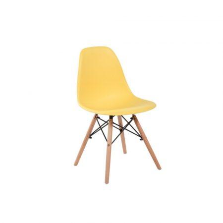 4 Designové moderní jídelní židle do vaší kuchyně nebo mohou být klenotem obývacího pokoje- žlutá