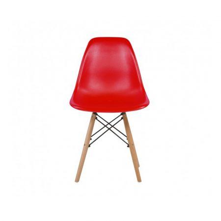 4 Designové moderní jídelní židle do vaší kuchyně nebo mohou být klenotem obývacího pokoje- červená