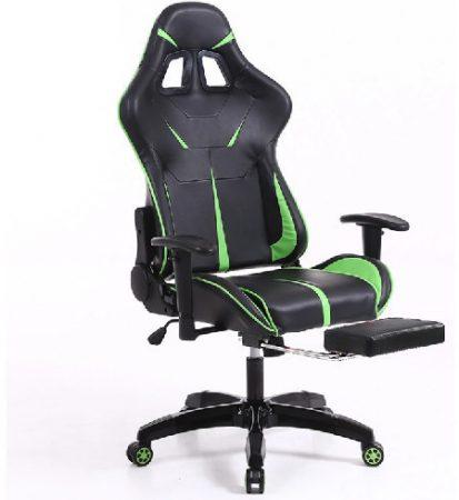 Židle Sintact Gamer s Green-Black Footrest