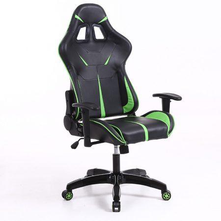 Sintact Gamer židle zeleno-černá bez opěrky na nohy