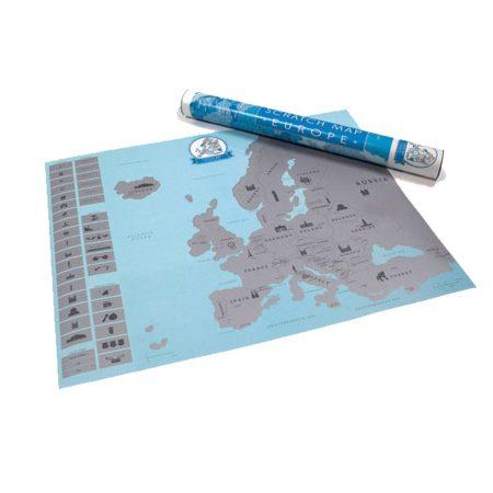 Škrábací Mapa Evropy