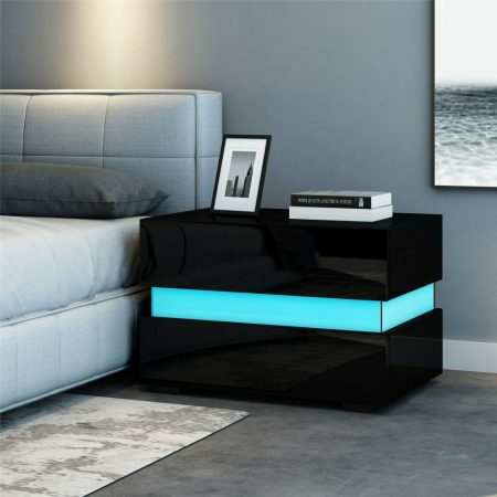 Noční stolek Homeland RGB - černý