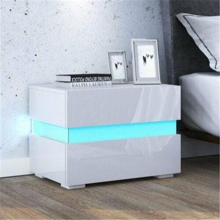 Noční stolík  Homeland RGB - bílý