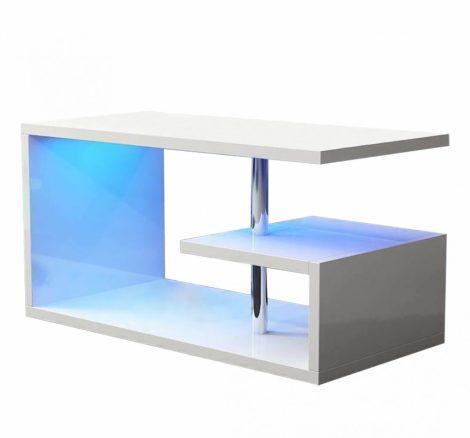 Homeland RGB konferenční stolek 100 cm, bílý s LED osvětlením