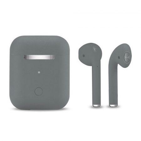 Slúchadlá Inpods 12 Macaron sivé - soft touch ovládanie a matný povrch