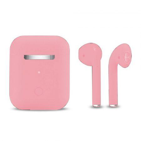 Slúchadlá Inpods 12 Macaron ružové - soft touch ovládanie a matný povrch