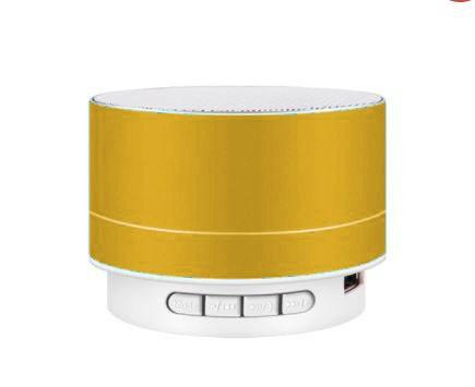 Reproduktor kovový  A10 Bluetooth - žlutý